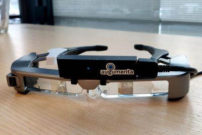Epson Moverio smartglasses with Pico Flexx camera