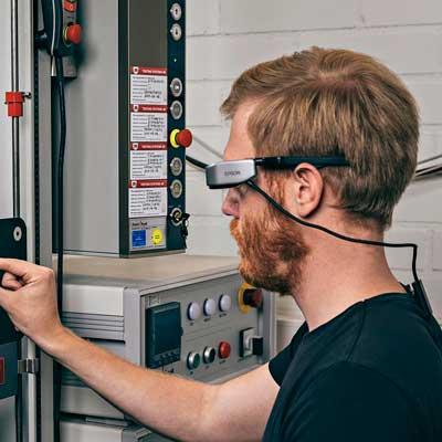 Epson Moverio smartglasses guiding a user